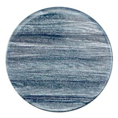 Blauw Platte cabochon polaris Sparkle dust Rustic blue 35mm