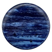 Blauw Platte cabochon polaris Sparkle dust Montana blue 35mm