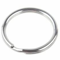 Rvs Dubbele sleutel ring RVS 20x2,5mm