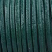 Groen Rond leer Donker groen 3mm - prijs per meter