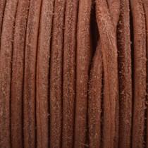 Bruin Rond leer Vintage Copper brown 3mm - prijs per meter