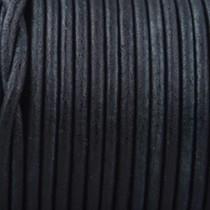 Zwart Rond leer Zwart 3mm - prijs per meter