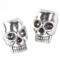Zilver Kraal skull Ø4,5mm Zilver 12x10mm