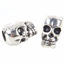 Zilver Kraal skull Ø3,5mm Zilver 12x8mm