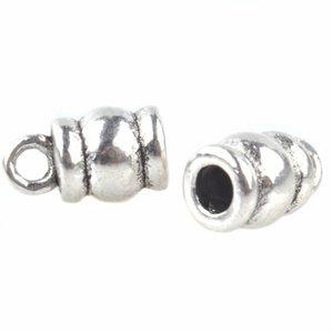 Zilver Eindkap Ø2mm Zilver 10x3,5mm - 4 stuks