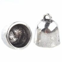 Zilver Eindkap Ø11mm Zilver 16x14mm - 2 stuks