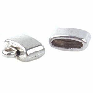 Zilver Eindkap Ø9x3mm Zilver 10x11mm - 6 stuks