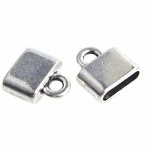 Zilver Eindkap Ø10x2,5mm Zilver 14x4,5mm - 4 stuks