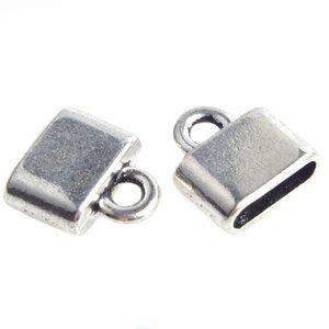 Zilver Eindkap Ø10x2,5mm Zilver 14x4,5mm - 6 stuks