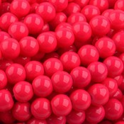 Blauw Glaskraal shine Roze rood 6mm - 50 stuks