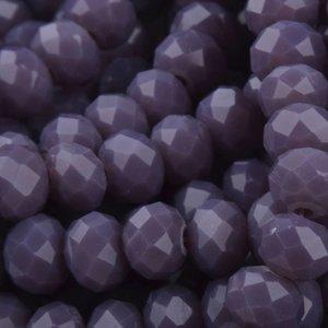 Paars Facet rondel Medium purple 6x4mm - 45 stuks