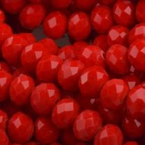Rood Facet rondel Red 6x4mm - 45 stuks