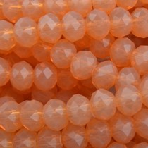 Oranje Facet rondel Orange opal 6x4mm - 45 stuks