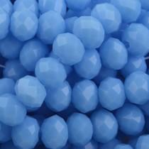 Blauw Facet rondel Blue opaque 6x4mm - 45 stuks