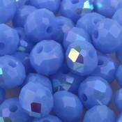 Blauw Facet rondel Steel blue AB 6x4mm - 45 stuks