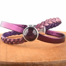 Paars DIY leer armband Cross & Shine Purple