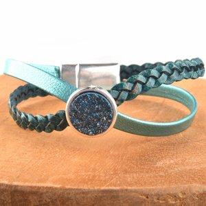 Turquoise DIY leer armband Cross & Shine Turquoise