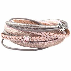 Roze DIY Dubbele wikkel armband Pink