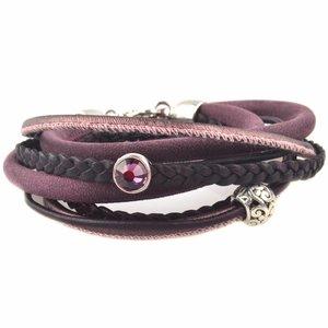 Paars DIY Dubbele wikkel armband Purple
