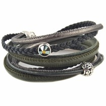 Groen DIY Dubbele wikkel armband Army green