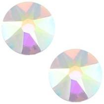 Wit Swarovski flatback SS34 (7mm) Crystal AB