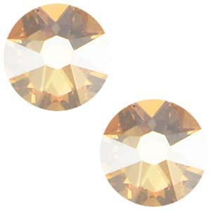 Bruin Swarovski flatback SS34 (7mm) Crystal Golden Shadow