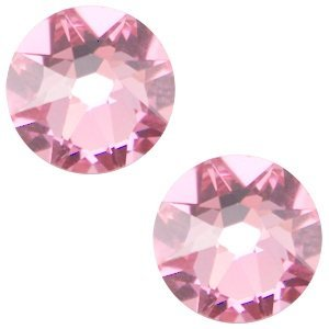 Roze Swarovski flatback SS34 (7mm) Light Rose