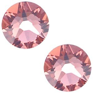 Roze Swarovski flatback SS34 (7mm) Blush Rose