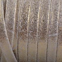 Goud Plat nappa Leer Vintage Goud 5x1.5mm - prijs per cm