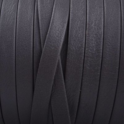 Grijs Plat nappa Leer Donker grijs 5x1.5mm - prijs per cm