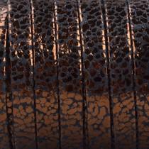 Bruin Plat nappa Leer Copper spots 5x1.5mm - prijs per cm