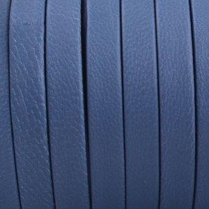 Blauw Plat nappa Leer Blauw 5x1.5mm - prijs per cm