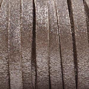 Plat nappa Leer Vintage metallic 5x1.5mm - prijs per cm