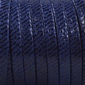 Blauw Plat nappa Leer Blue stripes 5x1.5mm - prijs per cm
