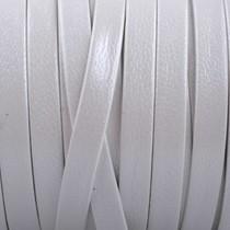 Wit Plat nappa Leer Shiny wit 5x1.5mm - prijs per cm