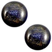 Blauw Cabochon polaris Stardust Midnight blue 12mm