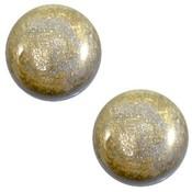 Grijs Cabochon polaris Stardust Grey 12mm