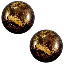 Bruin Cabochon polaris Stardust Dark smoke topaz 12mm