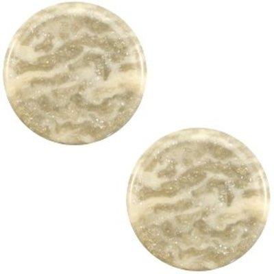 Bruin Platte cabochon polaris Stardust Sand beige 12mm