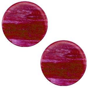 Roze Platte cabochon polaris Sparkle dust Violet purple 12mm