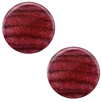 Rood Platte cabochon polaris Sparkle dust Aubergine red 12mm