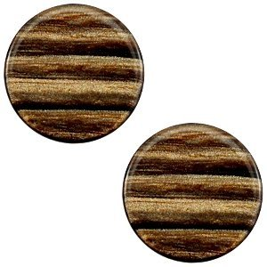 Bruin Platte cabochon polaris Sparkle dust Smoke topaz 12mm
