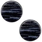 Blauw Platte cabochon polaris Sparkle dust Indigo blue 12mm