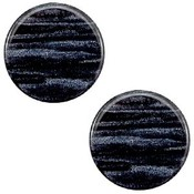Blauw Platte cabochon polaris Sparkle dust Indigo blue 12mm