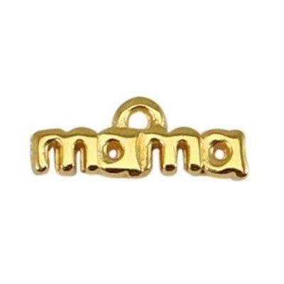 Goud Bedel 'mama' Goud DQ 17x4mm