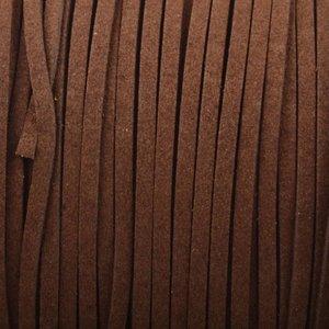 Bruin Imitatie suede warm bruin 3x1,5mm - 2 meter