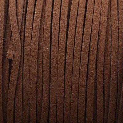 Bruin Imitatie suede warm bruin 3x1,5mm -3 meter