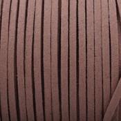 Bruin Imitatie suede camel bruin 3x1,5mm -3 meter