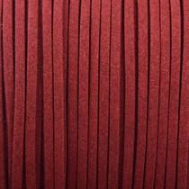 Bruin Imitatie suede rood bruin 3x1,5mm -3 meter