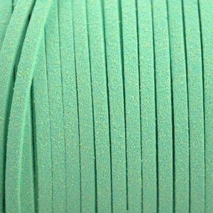 Groen Imitatie suede licht turquoise groen 3x1,5mm - 2 meter